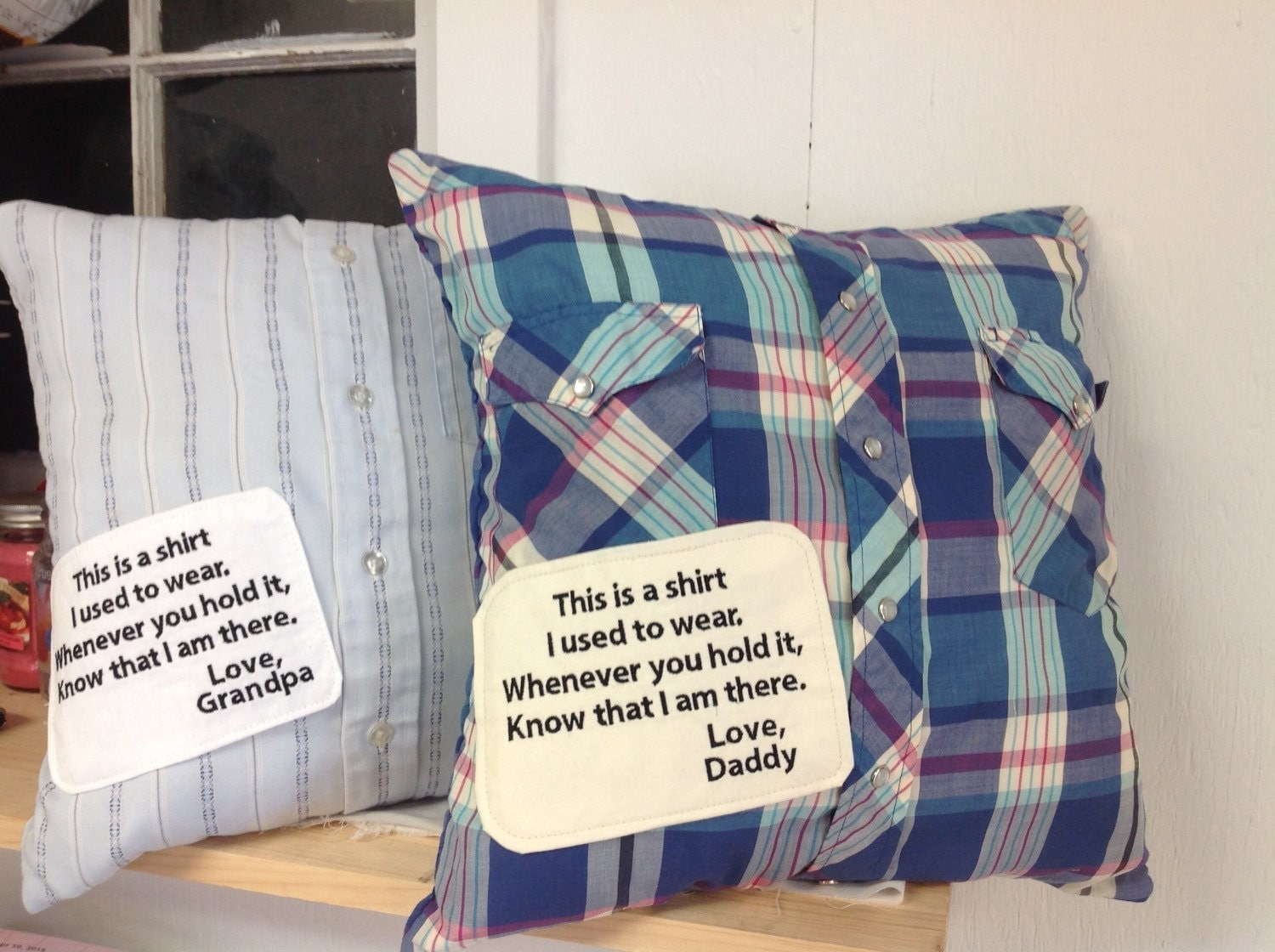 Memory pillow t shirt memory pillow dad pillow remembering for Things to make out of a loved one s clothing