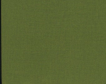 Olive Green Fabric, Solid Green Fabric, Fabric by the Yard, quilting fabric, sewing fabric