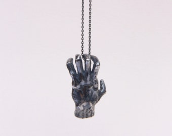 Silver Hand Pendant