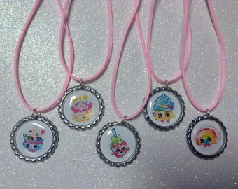 Shopkins Party favor Bottlecap necklaces 5