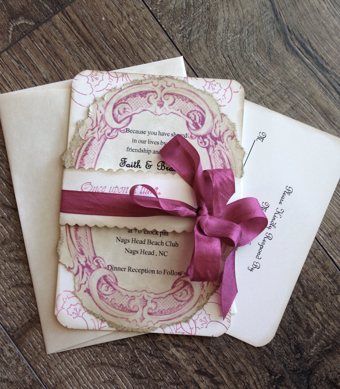 Fairy Tale Wedding Invitation Romantic By ScrappySeahorse On Etsy