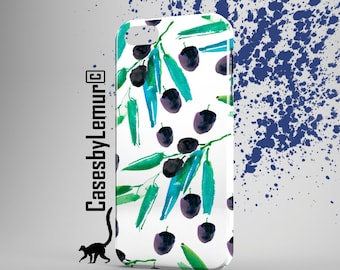 BLACK OLIVES Iphone case Watercolor Iphone 6 case Art Print Iphone 5 case Pattern Iphone 6 plus case Spring Iphone 5C case Iphone 5s case