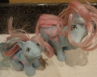 Two Vintage 1980's My Little Ponies