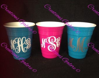 """Insulated """"Solo"""" cup, Monogrammed Cup, Personalized Cup,"""