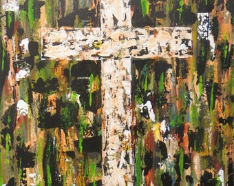 Cross Painting 16 x 20 Acrylic on Stretched Canvas