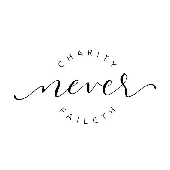 Charity Never Faileth Vector