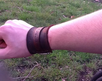 Charred Leather Bracelet