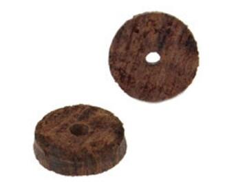 8mm Wood Beads- Natural Dark  (144pcs)