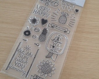 Clear stamps including acrylic block (SA01)