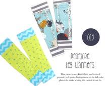 015 Penelope Leg Warmers PDF Sewing Pattern Baby or Kid Toddler Preemie through 6T Sadi & Sam