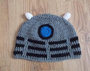 Dalek Crochet Dr Who beanie hat