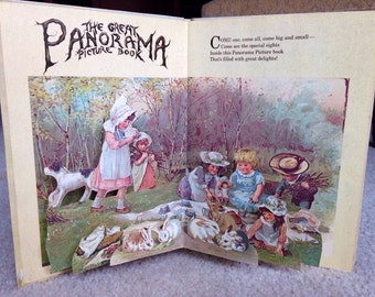 The Great Panorama Picture Book 1982 Ernest Nester Reproduction of Antique Three Dimensional Book FREE SHIPPING