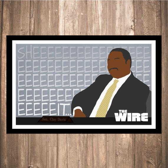 "The Wire ""Clay Davis"" Print"