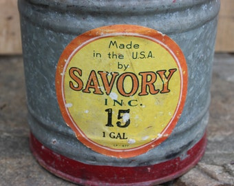 Spectacular Savory 1 Gallon Galvanized Kerosene can