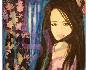 Hanachiyo ~ eternal flower ~ Print from original mixed-media painting