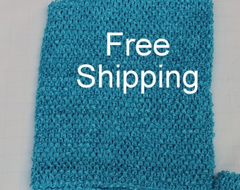 Lined Tutu Top - Ships Free - Turquoise Crochet Top 12 X 10 inches Lined - Turquoise Tutu Top Lined - Free Shipping - Waffle Crochet Top