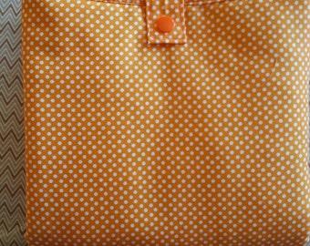 Orange Diaper Changing Pad