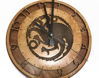 Game of Thrones Targaryen Sigil Wall Clock