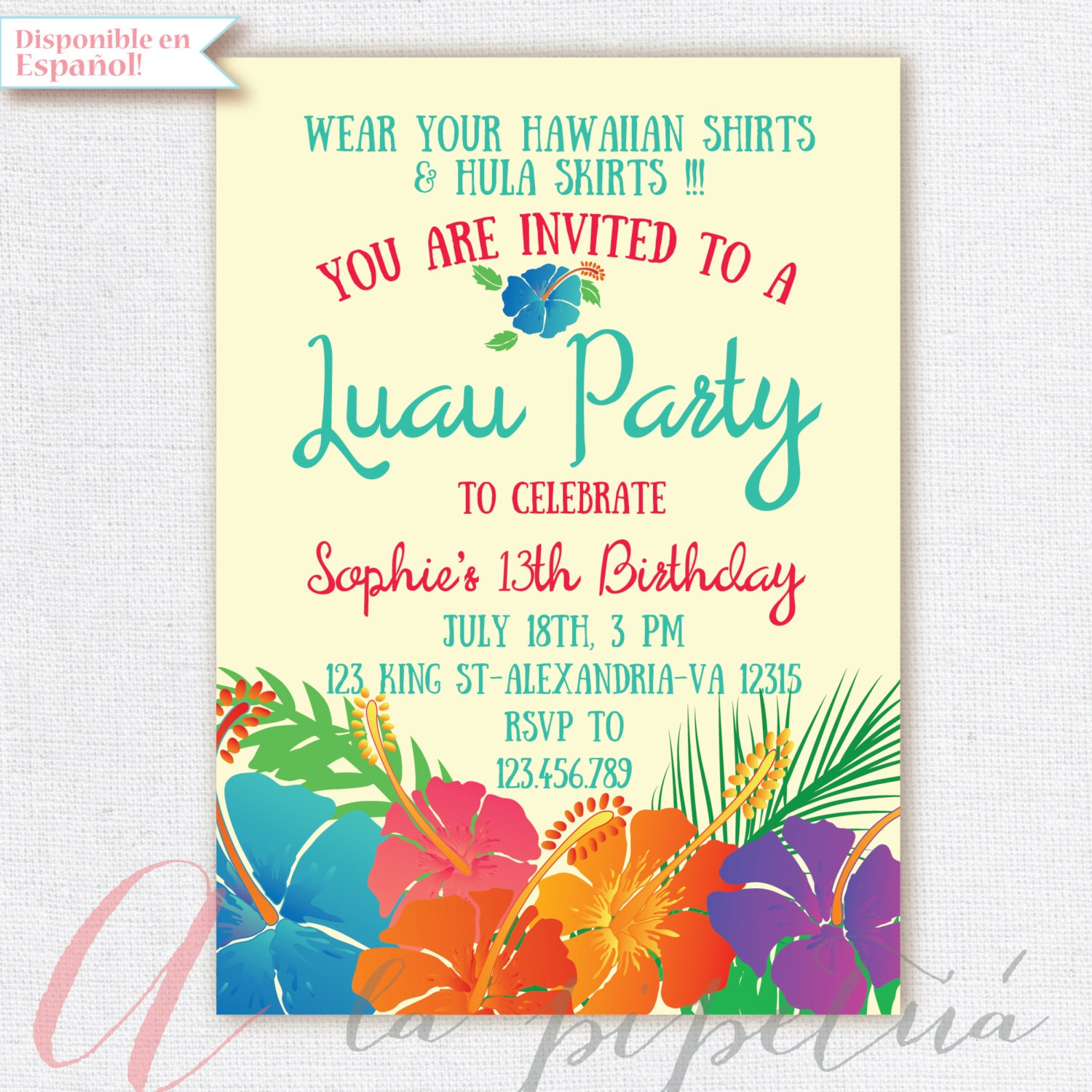 luau invitation birthday party hawaiian party invitation, invitation samples