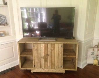 Reclaimed Wood TV Stand Credenza Console