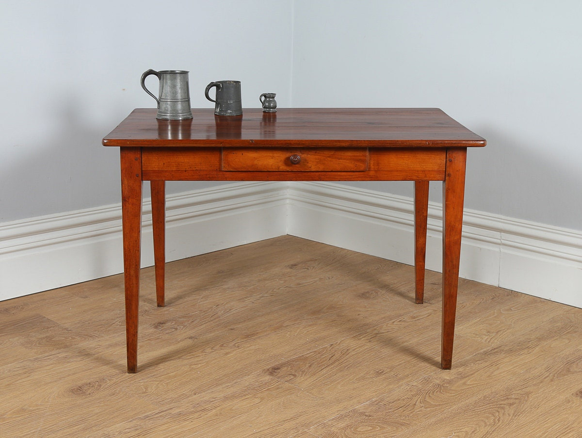 Antique french cherry wood provincial side small - Petite table haute ...
