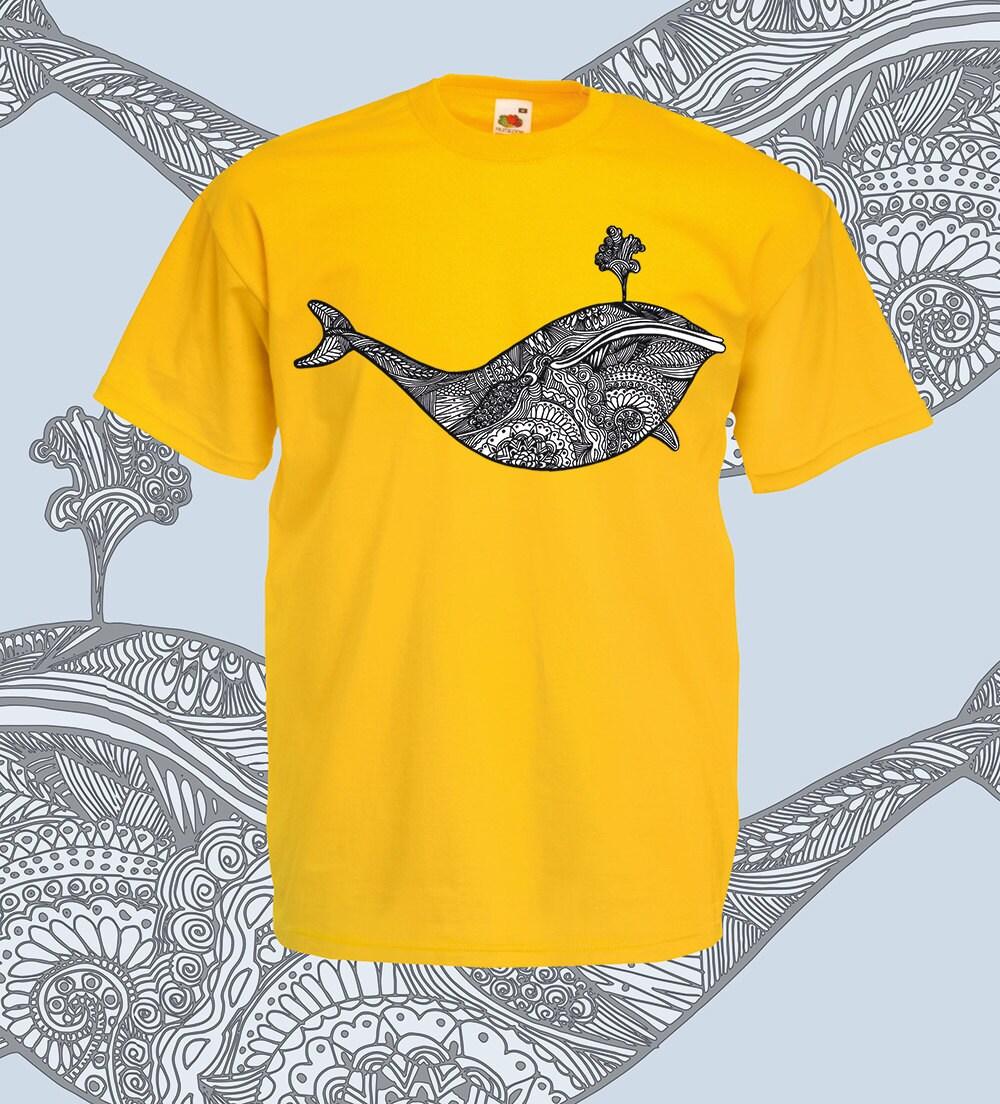 Whale shirt Whale t shirt Intricate line art tribal style
