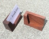 Business card holder made from Wenge wood