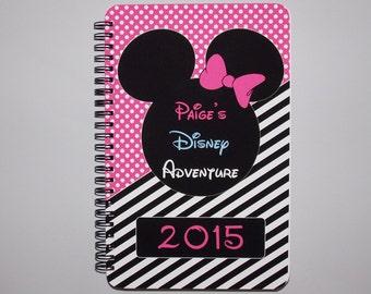 "Disney Autograph Book - Pink  - Minnie Mouse - Journal- Notebook - Sketchbook - Diary - Scrapbook - 5.5"" x 8.5"""