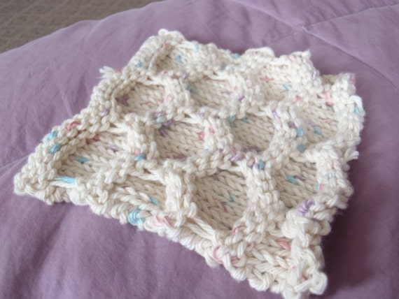 Items similar to Knit Dishcloths, Knit Washcloths, Kitchen Cloth, Cotton Dish...