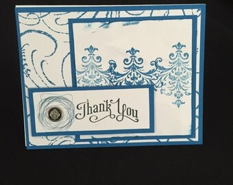 Baroque Thank You Card