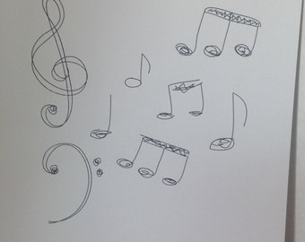Music Notes Sketch