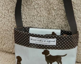 Oil Cloth Dog Walking Bag