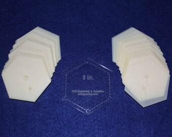 "Mylar 3"" Hexagon 51 Piece Set - Quilt / Sew Templates"