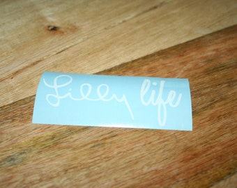 Lilly Life Vinyl Decal