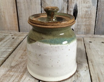 Ceramic Jar with Lid - Bathroom Jar, Cotton Swabs, Vanity Jar Pottery Jar, Storage Jar, Cotton Balls Decorative Jar, Kitchen Jar, Sugar Jar