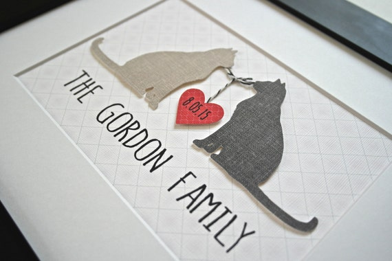 Wedding Gift Ideas For Cat Lovers : Wedding Gift, Personalized Cat Gift, Gift for Cat Lover, Cat Lover ...