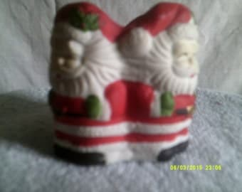 4 Santa's in Circle Tealight Candle Holder