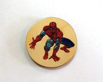 Wooden magnet Spider-Man