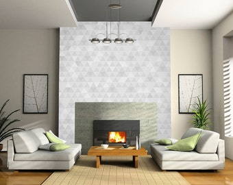 Chill room self-adhesive wallpapers, gray triangle shades
