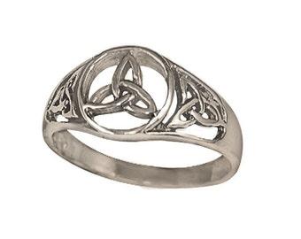 Sterling Silver Men's Trinity Ring (R444)