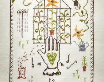 Cross Stitch Pattern ~ Hands to Earth ~ Instant PDF Download!