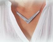 BIG SALE! Geometric Necklace, Stylish Silver color Necklace. Nice Geometric necklace. Delicate Jewelry. Christmas gift!