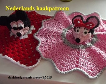 Dubbel patroon mickey en minnie Mouse knuffeldeken
