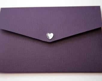 Plum & Silver Grey Linen Wedding Pocketfold