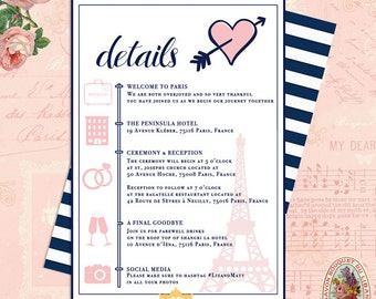 Destination Wedding Itinerary, Day of Itinerary, Paris Itinerary, French Themed Travel Wedding, Eiffel Tower French Inspired Wedding