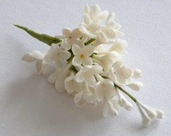 Cold porcelain white lilacs