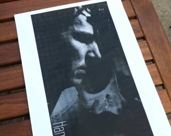 Hamlet poster Benedict Cumberbatch (handprinted)