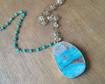 Ocean jasper long necklace