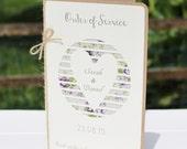 Floral Heart Wedding Program   Rustic Wedding