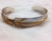 Gold & Silver Feather Cuff